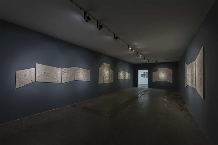 Exhibition view: Peng Wei, Old Tales Retold 故事新编, Tang Contemporary Art, Beijing (7 September–25 October 2019). Courtesy Tang Contemporary Art.