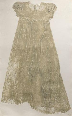 Baptismal Dress Collograh by Marina Cruz contemporary artwork