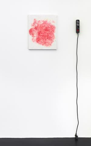 intestine, red by Henrik Olesen contemporary artwork
