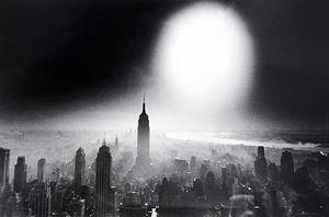 Atom Bomb Sky, New York by William Klein contemporary artwork