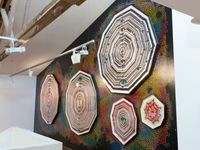 briefly turned into dreams by Del Kathryn Barton contemporary artwork installation, textile, textile, textile