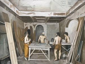 Poor Studio (Door Factory) by Song Yuanyuan contemporary artwork