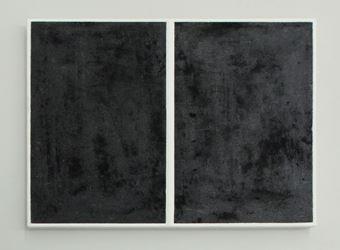 Alan Johnston, Untitled (Osaka), 2005.Acrylic paint, pencil, charcoal and beeswax on plywood.21.6 x 30.2 cm. Courtesy Bartha Contemporary.