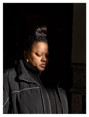Sightless (Woman in Black Jacket Half in Shade) by Paul Graham contemporary artwork