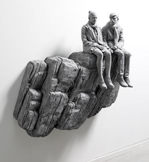 The Cliff (wall piece) by Hans Op de Beeck contemporary artwork
