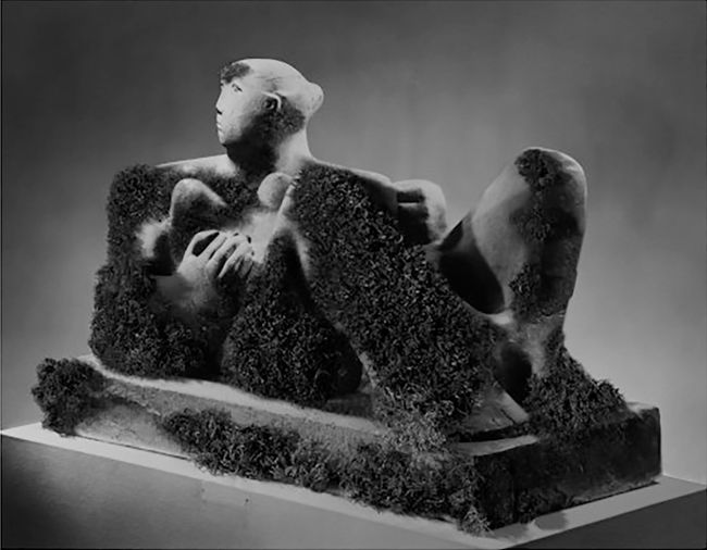 Mossed Moore (Reclining Woman, 1930) by Simon Starling contemporary artwork