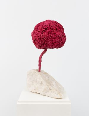 Untitled Pink Sponge Sculpture (SE 204) by Yves Klein contemporary artwork