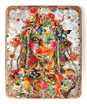 Silver Head I by Ashley Bickerton contemporary artwork