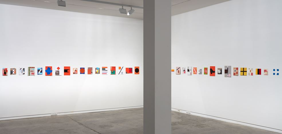 Exhibition view: John Nixon, Collages: Selected works, Two Rooms, Auckland (27 April–27 May 2017). Courtesy Two Rooms. Photo: Sam Hartnett.