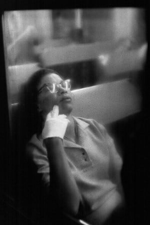 Woman with White Glove, Penn Station by Louis Stettner contemporary artwork