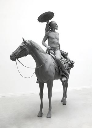 The Horseman by Hans Op de Beeck contemporary artwork