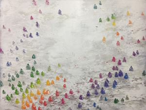 Rainbow Forest by YU YA-LAN contemporary artwork