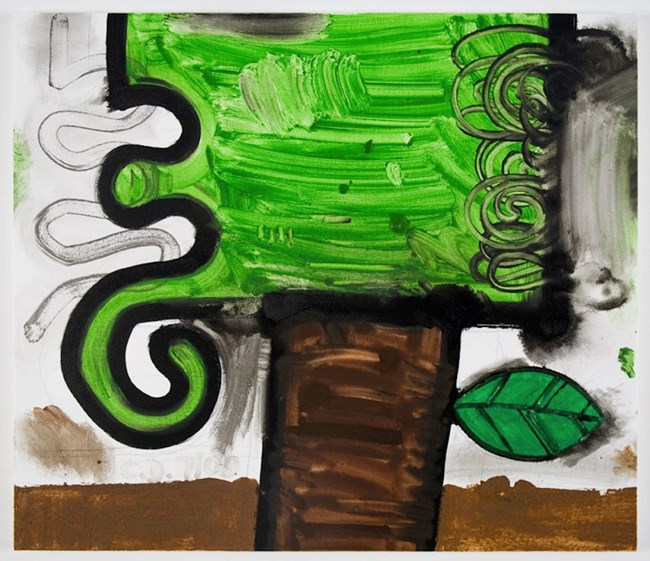 Leaf (two) by Carroll Dunham contemporary artwork