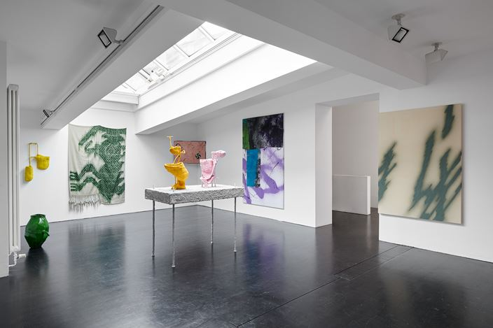 Exhibition view: Group Exhibition, Adieu to Old England, The Kids are Alright, CHOI&LAGER Gallery, Cologne (22 November 2019–16 February 2020). Courtesy CHOI&LAGER Gallery.