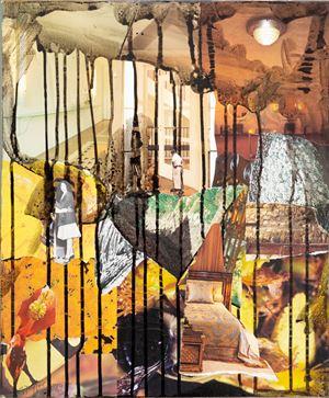 Ochre Interior by Michael Taylor contemporary artwork