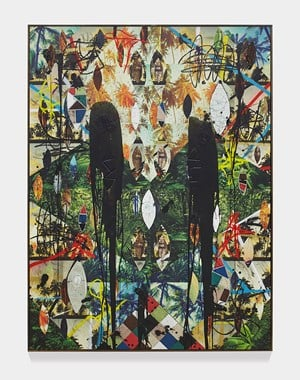 Untitled Escape Collage by Rashid Johnson contemporary artwork