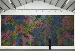 Appearance of Crosses 2016-B10 by Ding Yi contemporary artwork
