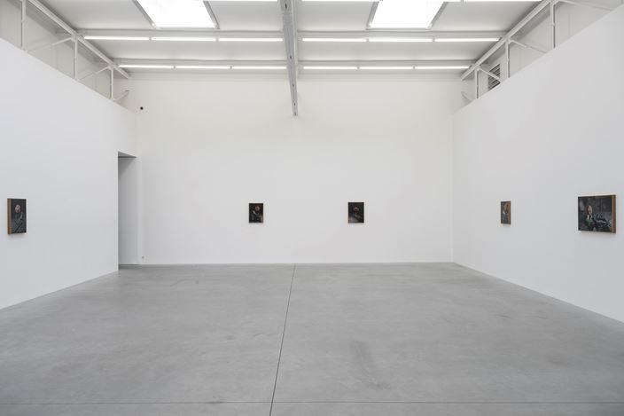 Exhibition view:Pietro Roccasalva, The Argon Welder, Zeno X Gallery, Antwerp (29 January–14 March 2020). Courtesy Zeno X Gallery.