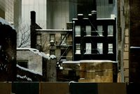 New York, 55th Street East, Sealed up building by Frank Horvat contemporary artwork photography