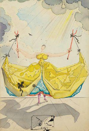 La meunière Frasquita by Salvador Dalí contemporary artwork