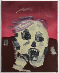 Skull by Janes Haid-Schmallenberg contemporary artwork painting