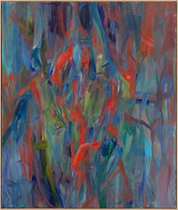 Mine II by Sabine Moritz contemporary artwork painting, works on paper