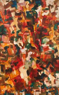 Abstract for Tomlin by Audrey Flack contemporary artwork painting