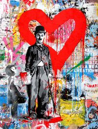 Chaplin by Mr. Brainwash contemporary artwork painting, print