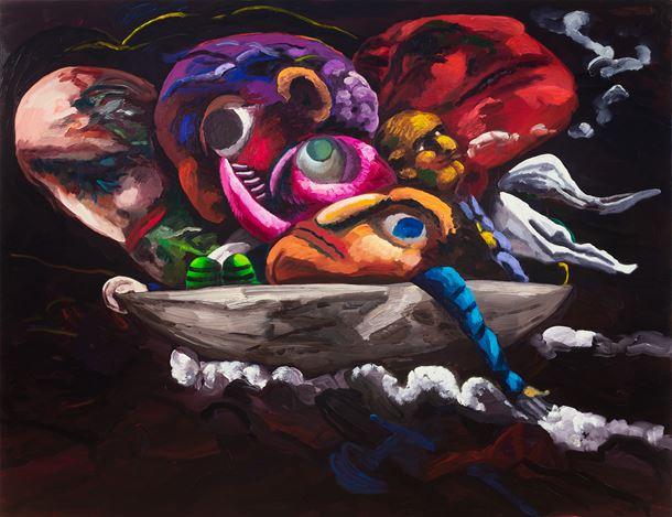 Dana Schutz,Boat Group, 2020, oil on canvas. © Dana Schutz. Photo: Jason Mandella.