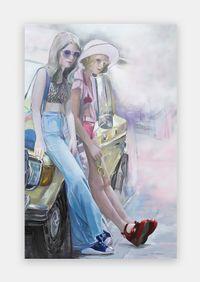 Night Discontent, Day Drama by Paulina Olowska contemporary artwork painting