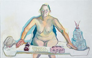 Mehlspeisenmadonna (Madonna of the pastries) by Maria Lassnig contemporary artwork