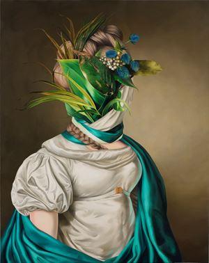 Portrait of a lady (after Christoffer Wilhelm Eckersberg) by Ewa Juszkiewicz contemporary artwork