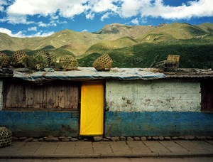 The Flowing Rainbow, Cabin on Sichuan—Tibet Road Chang du No.46 川藏线房子—昌都 46号 by Xiong Wenyun contemporary artwork