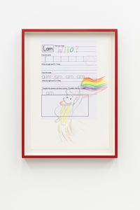 Who's Pride? (Textbook Identity) by Simon Fujiwara contemporary artwork painting, works on paper, drawing