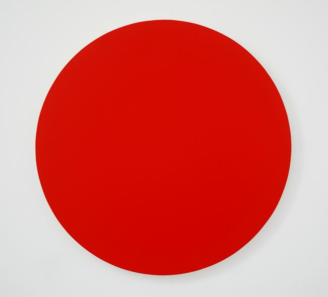 Red Dot by Olivier Mosset contemporary artwork
