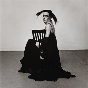 John Heys in Lana Turner's Gown (III) by Peter Hujar contemporary artwork