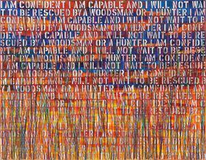The Hunter-RFGA by Ghada Amer contemporary artwork