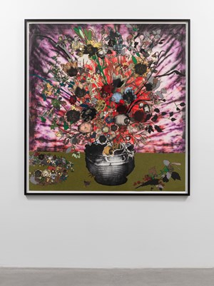 Bouquet in a Sculpted Vase Beside a Wreath of Flowers (Berlin) by Matthew Day Jackson contemporary artwork