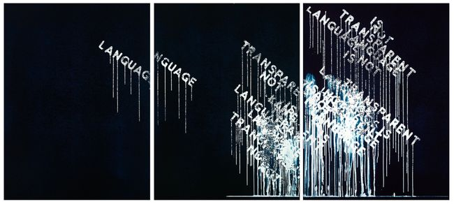 Language Is Not Transparent by Mel Bochner contemporary artwork