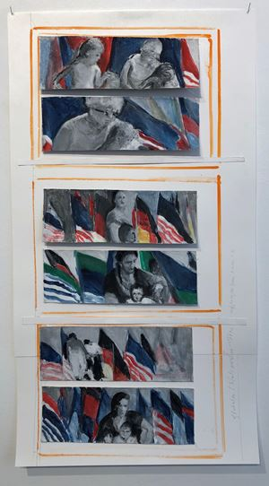 Globales/Nationales (5) by Chris Reinecke contemporary artwork