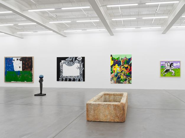 Exhibition views: Group Show, Galerie Eva Presenhuber, Maag Areal, Zurich (12 June–18 July 2020). © the artists.Courtesy the artists and Galerie Eva Presenhuber, Zurich. / New York. Photo: Stefan Altenburger.
