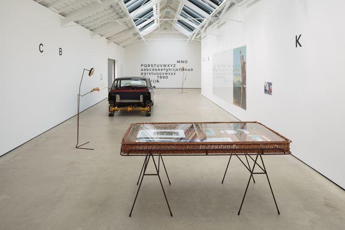 Exhibition view: Simon Starling, A-A', B-B', The Modern Institute, Osborne Street, Glasgow (7 September–9 November 2019). Courtesy The Artist and The Modern Institute/Toby Webster Ltd, Glasgow. Photo: Ruth Clark.