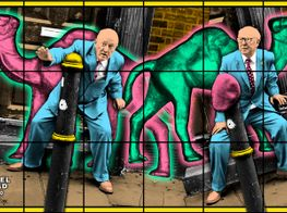 """Gilbert & George<br><em>NEW NORMAL PICTURES</em><br><span class=""""oc-gallery"""">Lehmann Maupin</span>"""