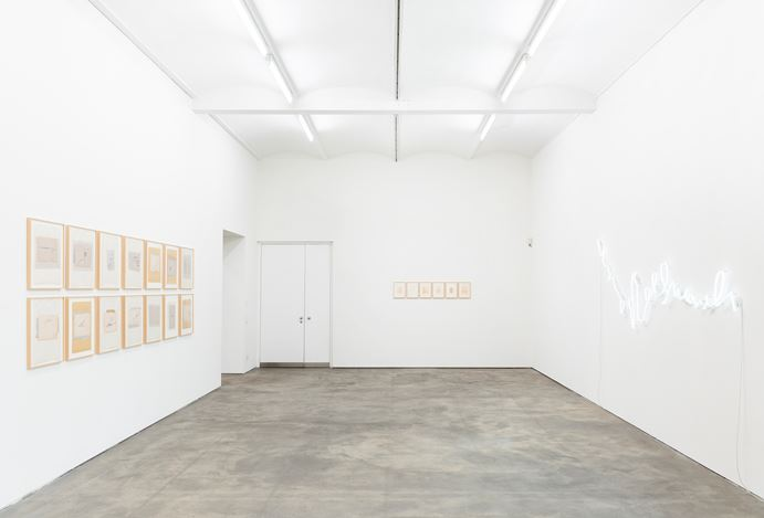 Exhibition view: Astrid Klein,CUTS, Sprüth Magers, Berlin (1 February–6 April 2019). Courtesy Sprüth Magers. Photo: Ingo Kniest.