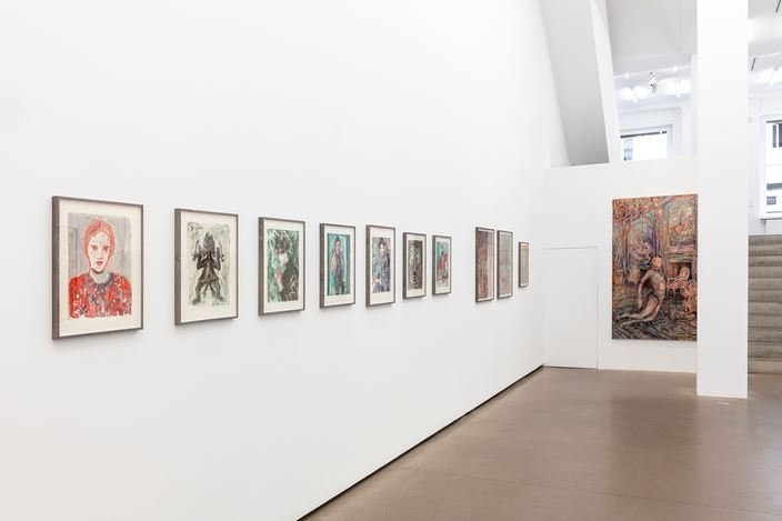 Exhibition view: Ulrike Theusner,All there is,Galerie EIGEN + ART, Berlin (28 May–4 July 2020). Courtesy Galerie EIGEN + ART. Photo: Otto Felber.