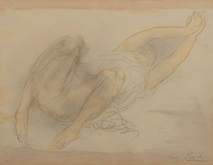 Femme étendue s'étirant by Auguste Rodin contemporary artwork