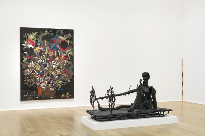 Exhibition view: Matthew Day Jackson, Still Life and the Reclining Nude, Hauser & Wirth London (1 March–28 April 2018). © Matthew Day Jackson. Courtesy the artist and Hauser & Wirth. Photo: Matthew Kroening.