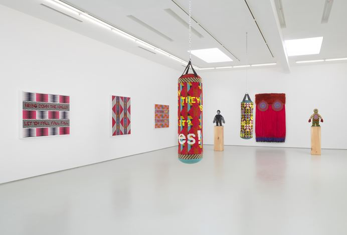 Exhibition view: Jeffrey Gibson, It Can Be Said of Them, Roberts Projects, Los Angeles (9 January–20 February 2021). Courtesy Roberts Projects.