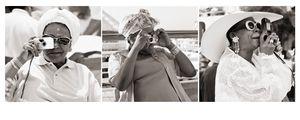 Sisterhood   L to R: Mrs Coretta Scott King, social activist and wife of Martin Luther King Jr; Maya Angelou; Dr Eleanor Traylor, Professor of English, Howard University, Washington D.C. by Margaret Courtney-Clarke contemporary artwork