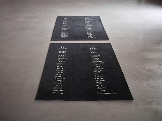 Exhibition view: Kimsooja,Planted Names, Axel Vervoordt Gallery, Antwerp (24 October 2020–20 February 2021). Courtesy Axel Vervoordt Gallery.